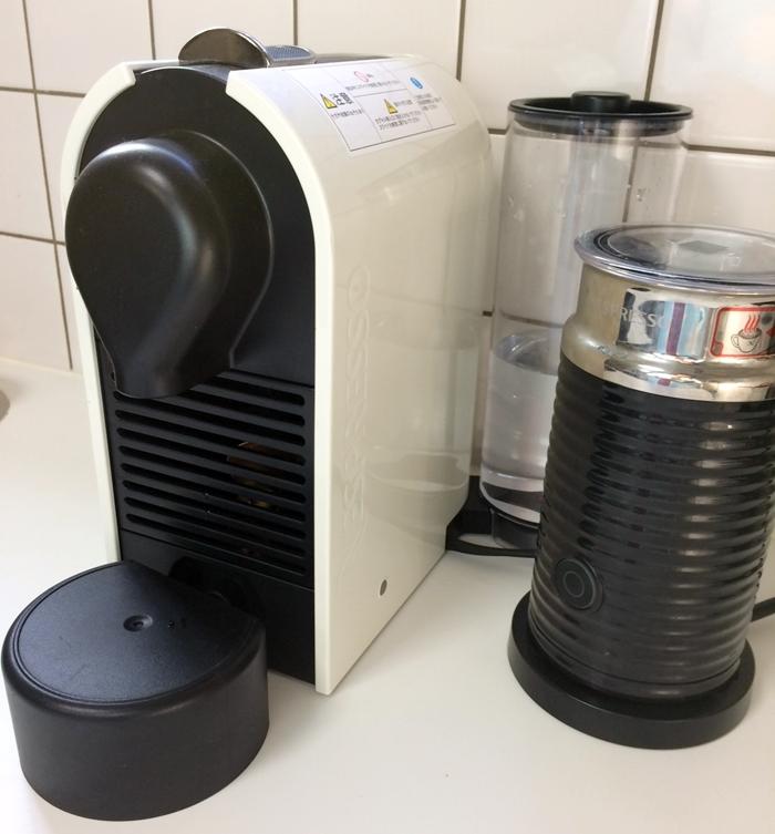 ネスプレッソ UバンドルセットC50CW-A3Bをキッチンに設置