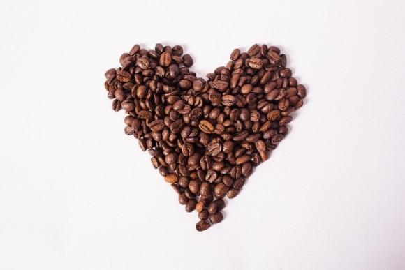 コーヒー豆のハート