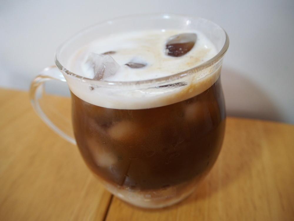 牛乳で作るカフェラテ