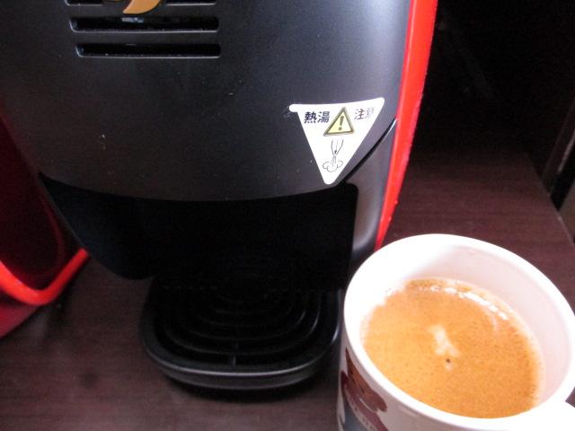バリスタiで淹れたコーヒー