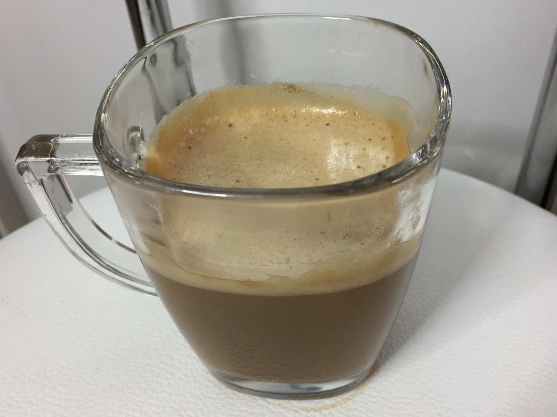 コク深めで作ったカフェラテ
