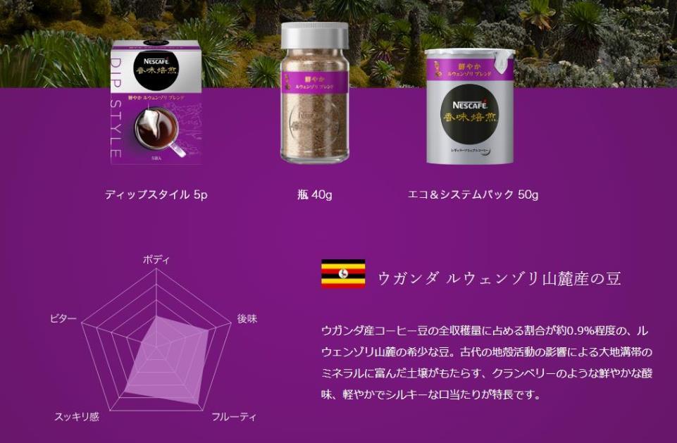 香味焙煎 鮮やか ルウェンゾリ の特徴