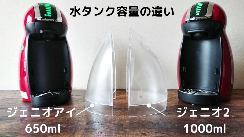 水タンク容量の違い