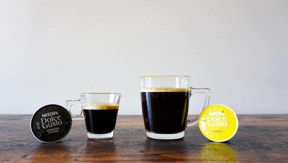 ドルチェグストのエスプレッソとリッチブレンドカプセルコーヒー