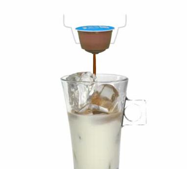アイスコーヒー ブレンド  カフェラテの作り方