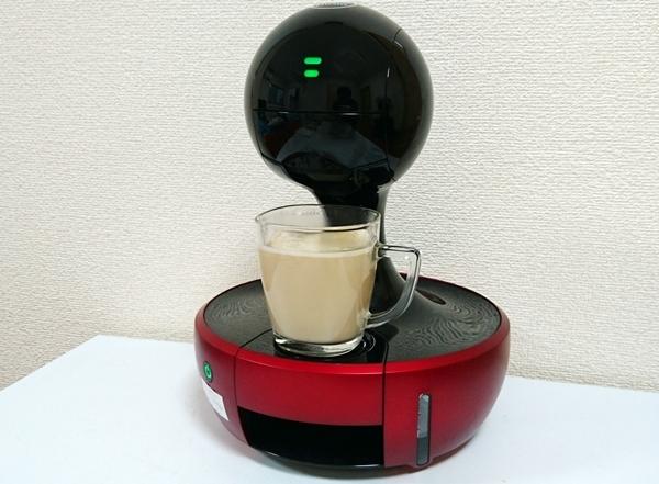 ドルチェグストで作るカフェラテ抽出完了