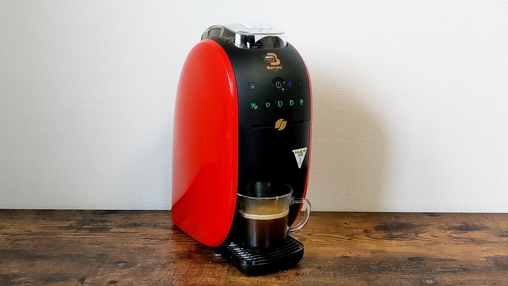 ネスカフェバリスタWでのコーヒー抽出完了