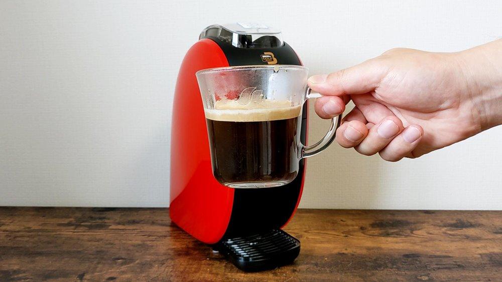 ネスカフェバリスタで作ったクレマたっぷりのコーヒー
