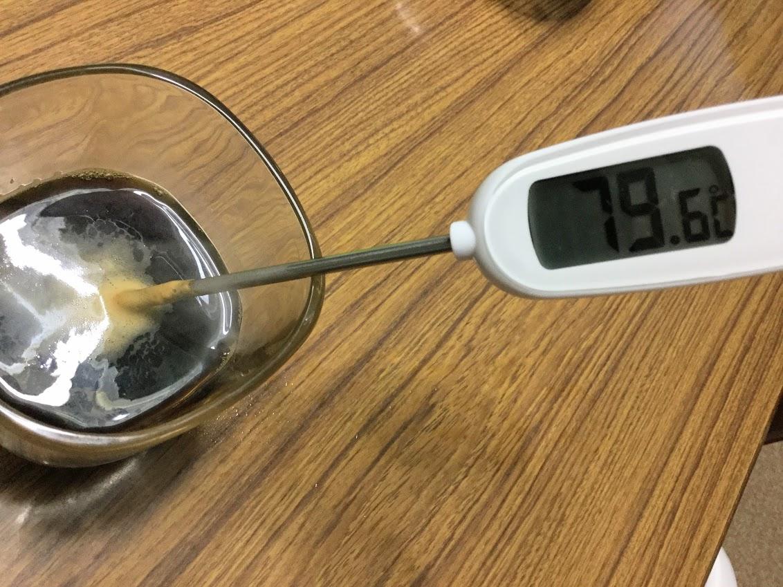 バリスタで淹れるコーヒーの温度