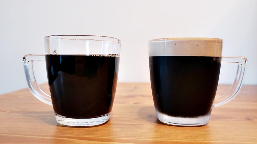 アイスコーヒーとドラフトコーヒー