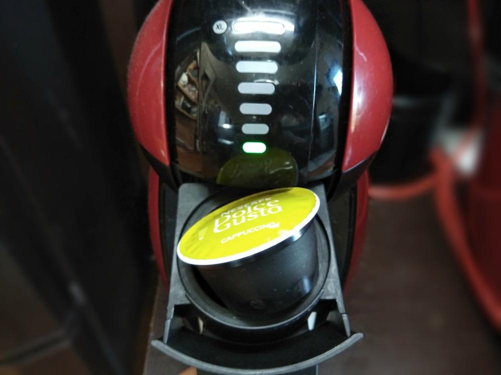 コーヒーカプセルをセット